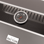 Patton Patio Pro Chef 4+ -burner Frozen Grey Close up thermometer